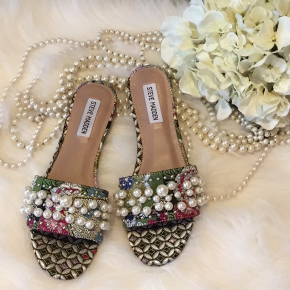 lower price with shop special sales Steve Madden Shoes | Vanessa Pearl Slides Nwt | Poshmark